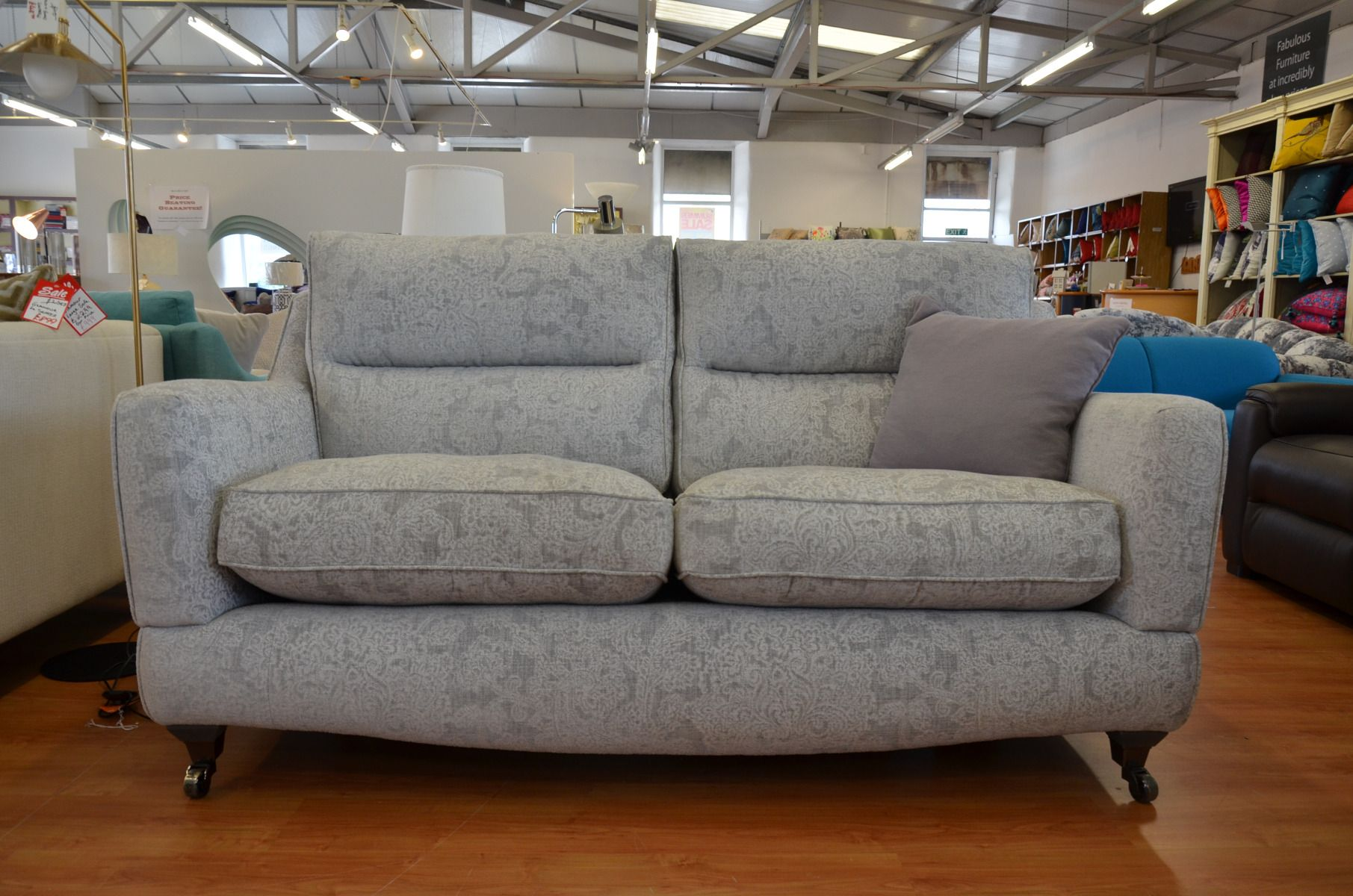 Groovy Fairfield 2 5 Seater Sofa In Grey Paisley Fabric Alphanode Cool Chair Designs And Ideas Alphanodeonline