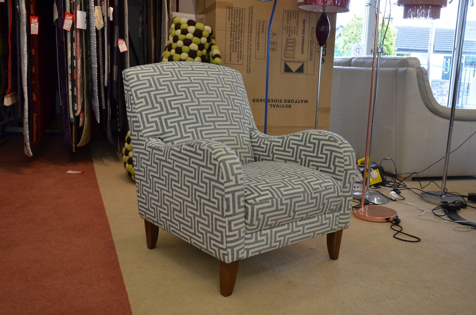 Armchairs And Accent Chairs.Greek Key Armchair Accent Chair