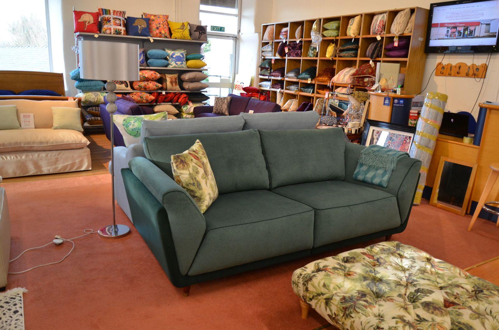 Prototype Green 3 Seater Sofa Art Deco Style