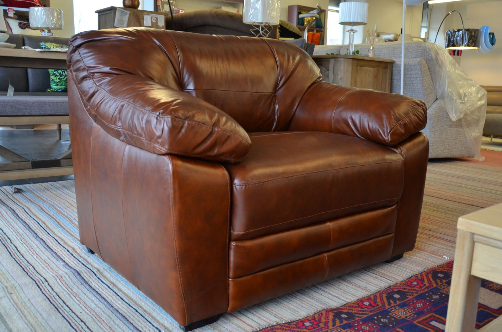malbec pair of 3 seater brown leather sofas and matching armchair
