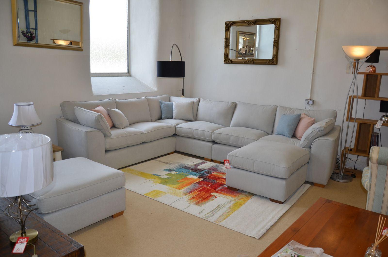 Terrific Jude Large Corner Sofa In Soft Blue Grey And Pastel Fabrics Interior Design Ideas Skatsoteloinfo