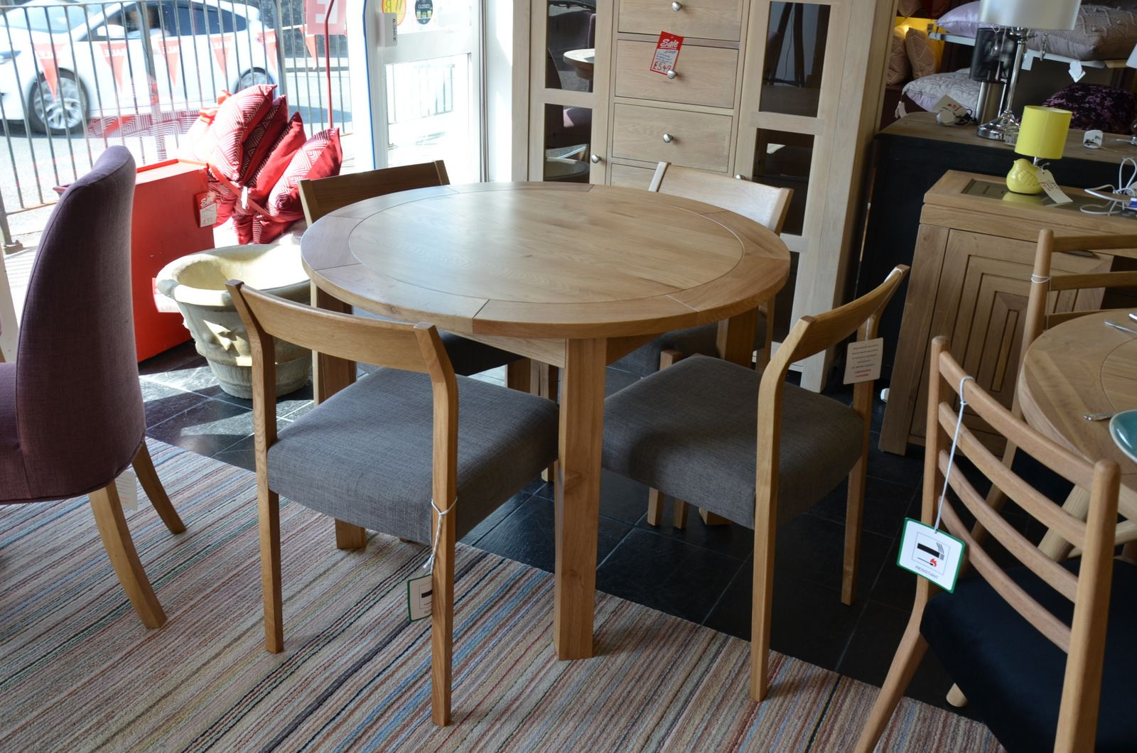 Fine Normandy Round Dining Table And 4 Skandi Chairs Squirreltailoven Fun Painted Chair Ideas Images Squirreltailovenorg