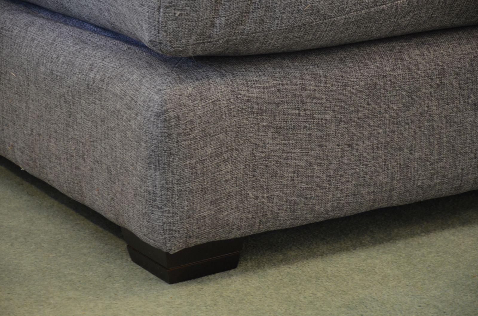 Groove Four Piece Corner Sofa In Indigo Blue Leather