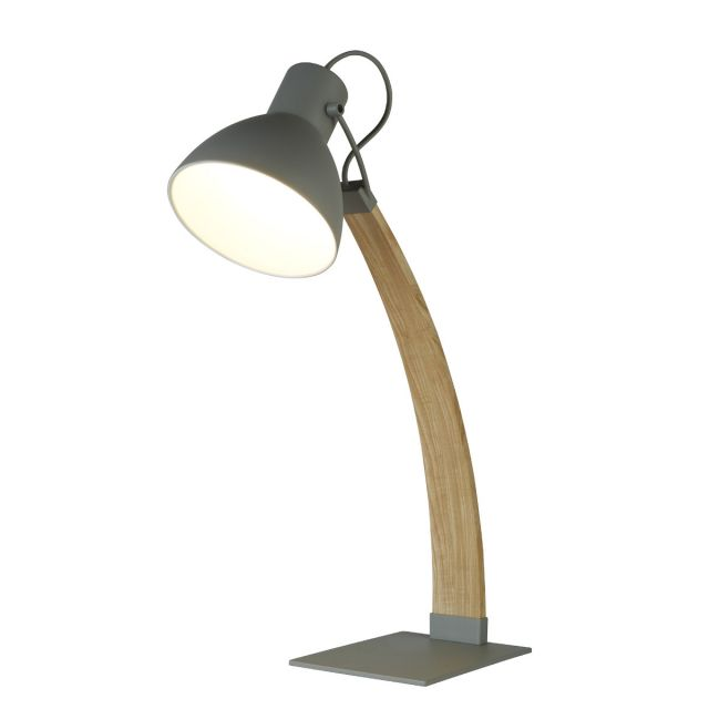 Perseus Table Lamp Curved Ash