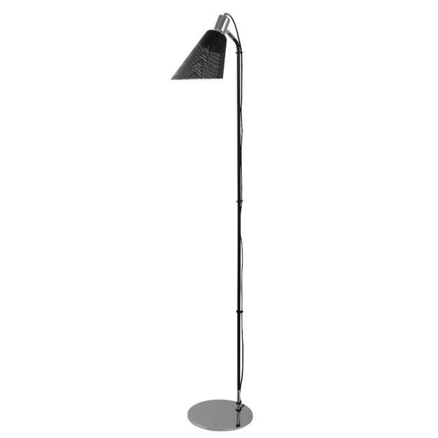 PLEXUS Floor Lamp Black Metal Mesh Design 6087CC
