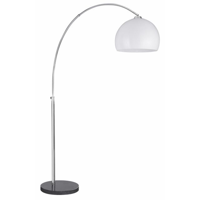 Snowdrop Floor Lamp with White Dome Shade