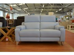 1701 Two Seater Sofa in Blue Leather Evolution