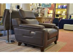 Evolution 1701 Two Piece Leather Suite Half Price