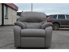 Mistral Armchair with Power Recliner in Grey Leather