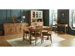 Westbury Extending Dining Table & Four Tan X-Back Dining Chairs