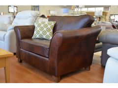 Abbey Loveseat in Brown Leather