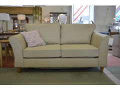 Abbey Leather Sofa Bed in Cream 2 Seater