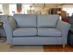 Abbey Medium Sofa in Grey Diamond Fabric