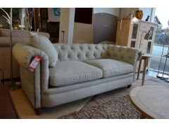 Abraham Fabric Chesterfield Sofa Junior 3 Seater