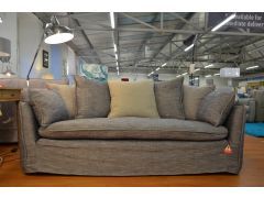 Tailor Maxi Sofa in Grey Loose Covers with Feather Fillings