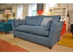 Amesbury 3 Seater Sofa in Blue Woven Fabric