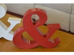 Red Metal & Ampersand And Sign Shabby Chic Style