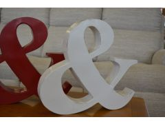 White Metal & Ampersand And Sign Shabby Chic Style