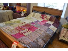 Handmade Silk Patchwork Throw or Bedspread