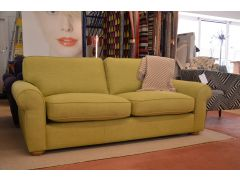 sofas Ribble Valley ex display sofa green fabric Clitheroe furniture outlet store just off the A59 near Loom Loft - but much cheaper!