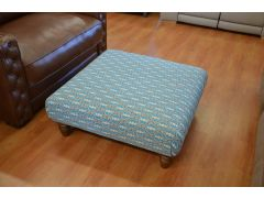 Artisan Blue Fabric Footstool