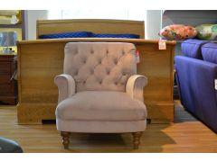 Artisan Armchair Buttonback Style Dusty Pink Velvet