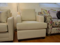 White Fabric Armchair