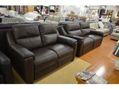 half Price Italian Leather Sofas Barker & Stonehouse Ex Display