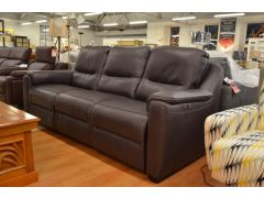 Strauss 3 Seater Leather Sofa with Electric Recliners