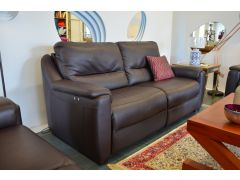 Strauss 3 Seater Sofa in Dark Brown Leather