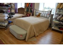 Turenne Bedspread in Beige Cotton Velvet