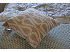 Beige Scatter Cushions with Loop Pattern ROCCO Pair of 2 Cushions with Fillings