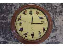 Bird Song Wall Clock Plays Realistic Bird Calls Hourly