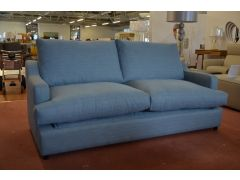 Atworth Large 3 Seater Sofa Bed in Blue Fabric with Memory Foam Mattress