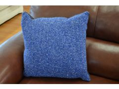 Pair of Soho Blue Scatter Cushions in Woolly Acryllic