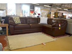 brand new clearance stock leather corner sofa from Littlewoods