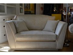 Carina Traditional Snuggler Chair in Oyster Fabric