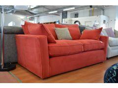 Medium Designer Sofa in Post Box Red Loose Covers