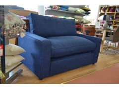 Chopin Sofa Bed Snuggler Chair in Ink Blue Fabric