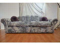 Wade Upholstery Silver Velvet Sofas