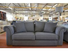 Jefferson Grey Fabric Sofa Medium 3 Seater