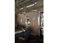 Copper arced 5 arm floor lamp at wb furniture the discount lighting centre in clitheroe lancashire