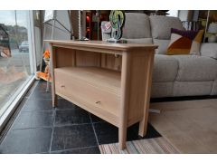 Small Oak Corner TV Unit with Drawer