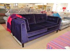 Urbane Purple Velvet Large Sofa and Snuggler Chair