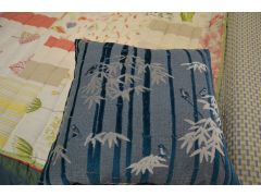 Teal Bamboo Forest Cushions Pair of 2 Large Scatter Cushions