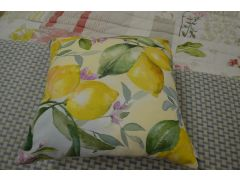 Lemon Garden Cushions Pair of 2  Cushions with Fillings
