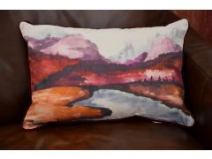Kielder Sunset Bolster Cushions Matching Pair Set of 2 with Fillings