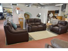 Degano sofas Lancashire Italian leather suite ex display sofa Polo Divani