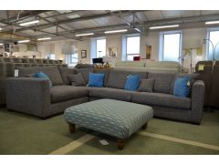 Dillon Large Corner Sofa in Grey Fabric
