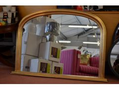 Gold Arch Overmantle Mirror